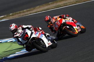 2016 Honda Racing Thanks Day Fernando Alonso and Marc Marquez on the RC213V