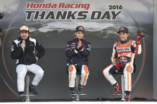 2016 Honda Racing Thanks Day Honda Talk Show Alonso, Pedrosa, Marquez