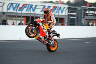 2016 Honda Racing Thanks Day Marquez riding his RC213V