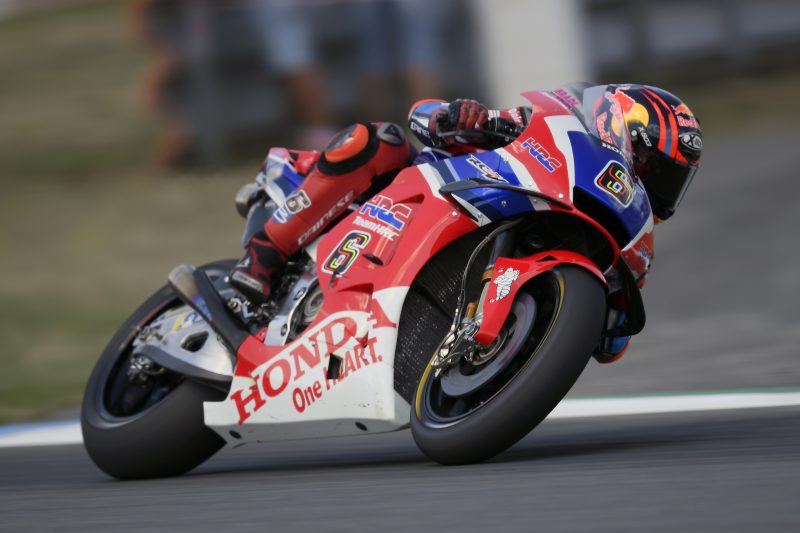 HRC wildcard Stefan Bradl starts his preparation for the race at a sunny and hot Brno