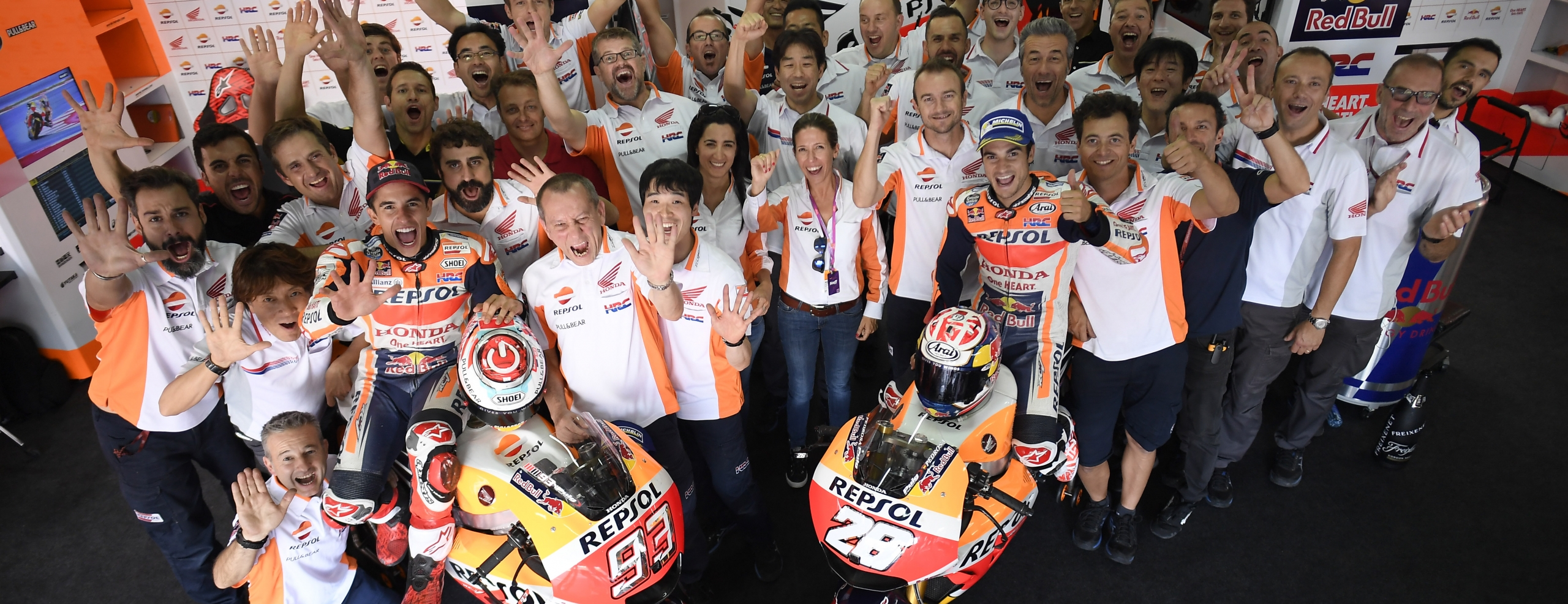 Master-class race for Marquez and Pedrosa, first and second at Motorland Aragon