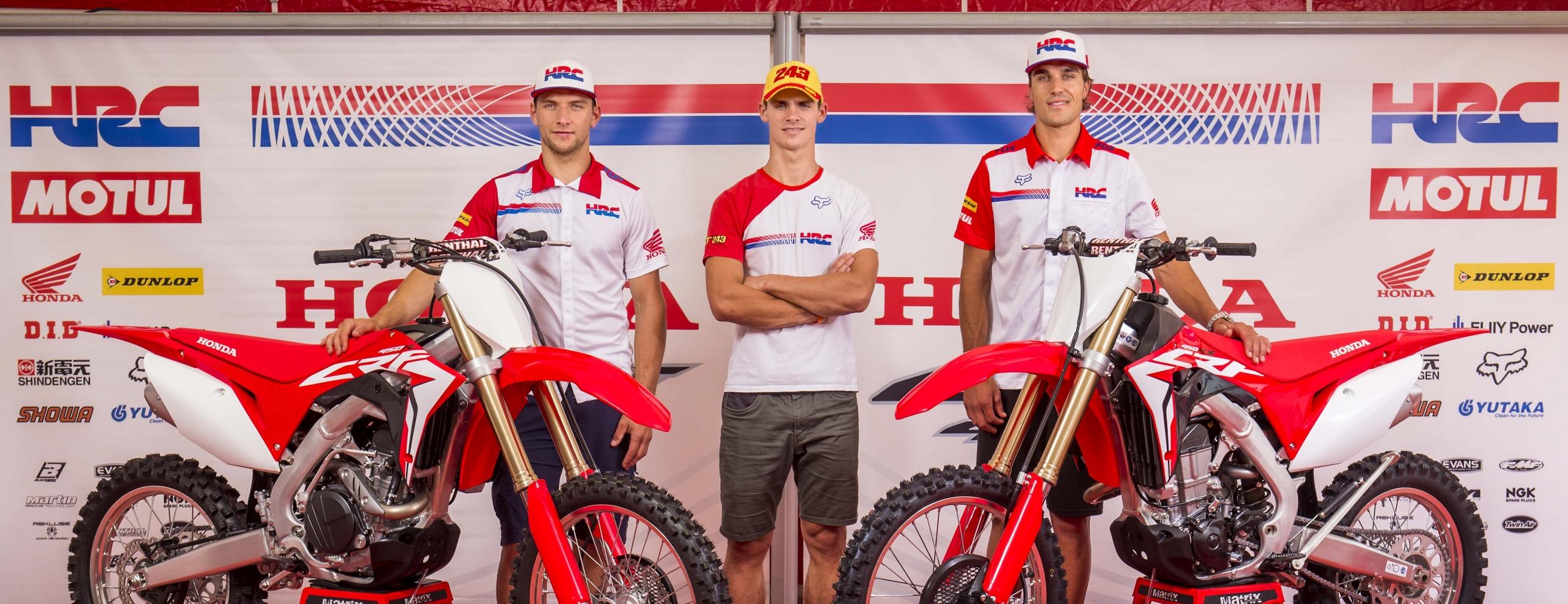Honda's factory teams unveil 2017 Honda CRFs at MXGP of The Netherlands