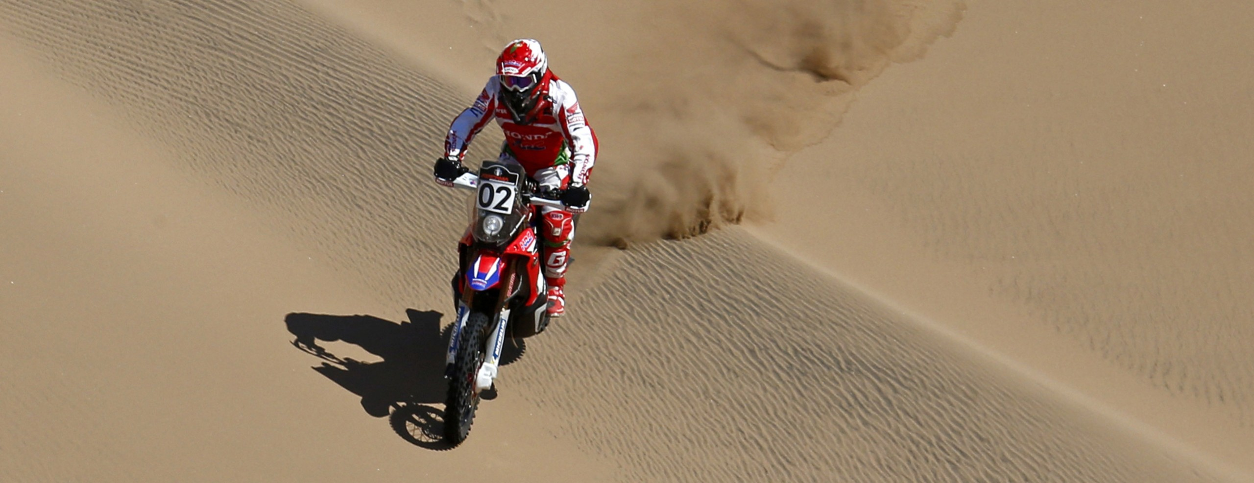 Team HRC performs well in a gruelling desert stage