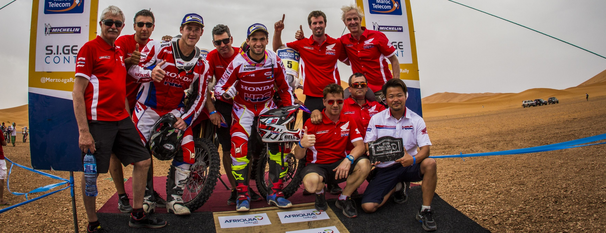 Kevin Benavides and Team HRC win the Merzouga Rally