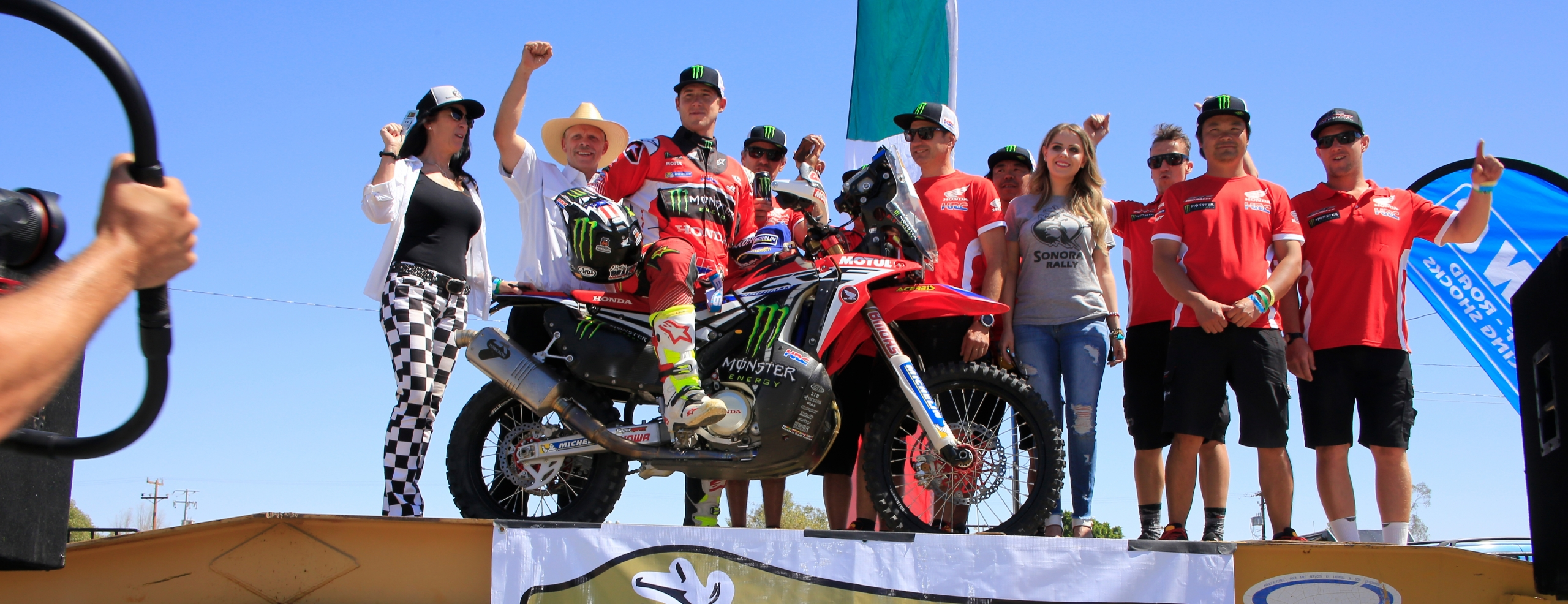 Monster Energy Honda Team kick off the 2017 season with a victory as Ricky Brabec wins the Sonora Rally