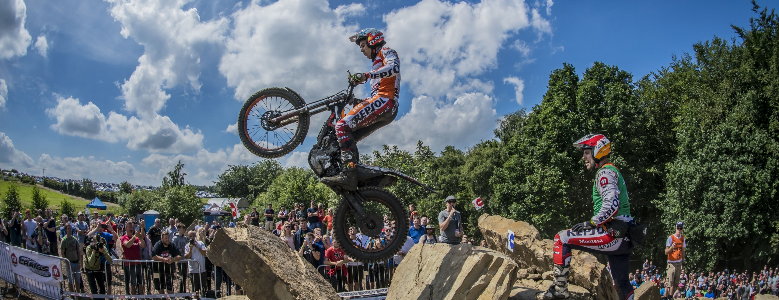 Second Repsol Honda Team double with Bou and Fujinami on top in the British TrialGP